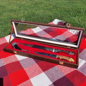 Набор кинжал, нож и рог 50778