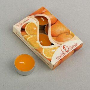 Свеча чайная ароматизированная 12 г, апельсин 34143
