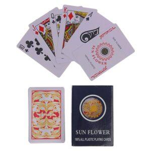 """Карты игральные пластиковые """"Sun Flower"""", 54 шт, 27 мкм 50341"""