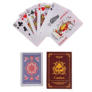 """Карты игральные пластиковые """"Casino"""", 54 шт, 28 мкр, микс 50342"""