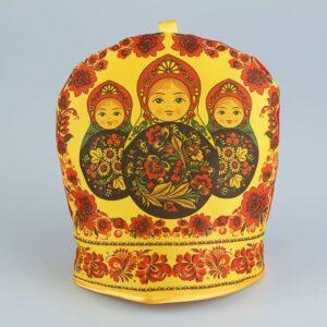 Грелка на чайник «Матрёшки» хохлома 44944