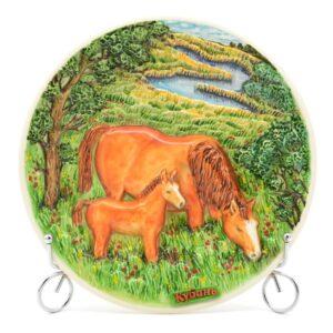 Тарелка Лошади в поле Кубань 50250
