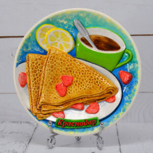 Тарелка Чаепитие с блинчиками бол. 52972