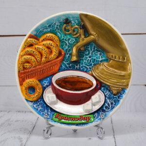 Тарелка Чаепитие с самоваром бол. 52973