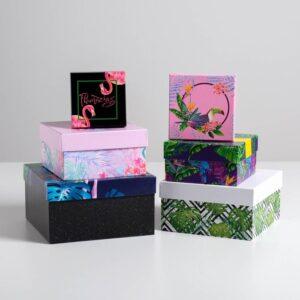 """Подарочная коробка """"Фламинго"""" 55775"""